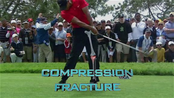 tiger woods swing finish. impact Tiger Woods#39; swing