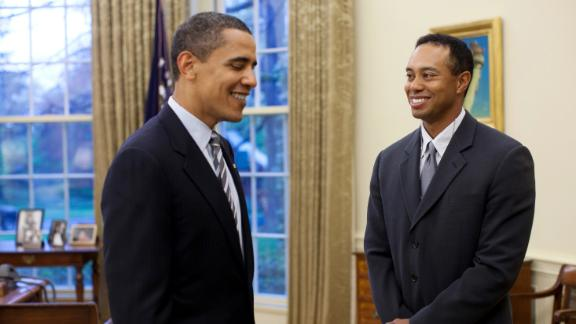 Barack Obama and Tiger Woods