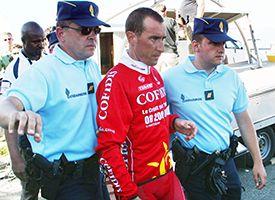 Moreni in handcuffs