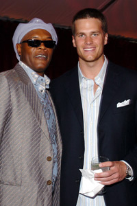 Tom Brady and Samuel L. Jackson