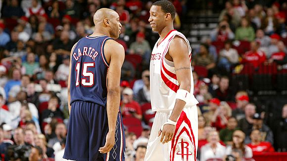 tracy mcgrady and vince carter raptors. Cousins Vince Carter and Tracy