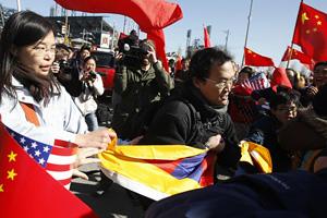 pro-Tibet supporters