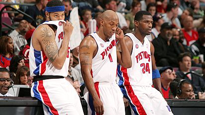 Rasheed Wallace, Chauncey Billups, Antonio McDyess