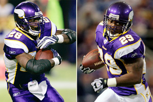 Adrian Peterson and Chester Taylor