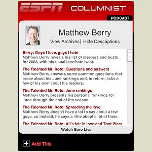 Click here to add the Matthew Berry widget.