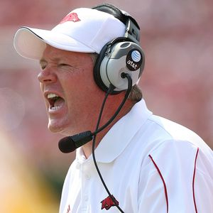 BOBBY PETRINO had plenty to yell about after Alabama dismantled the ...