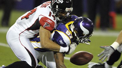 Minnesota's Bernard Berrian was one of several Vikings who coughed up