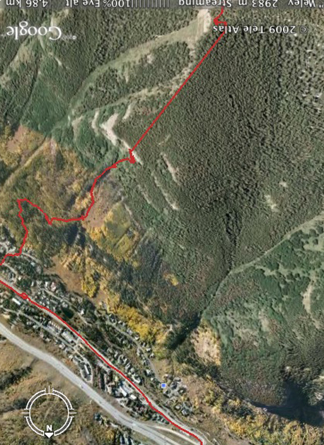 funny things on google earth. Google Earth Red line shows