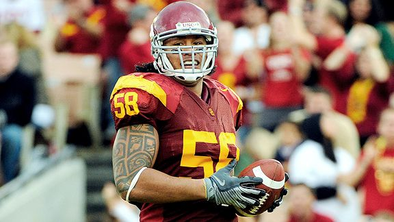 best website 9bb98 e55de Was Rey Maualuga a handful at USC? | The Scores Report - The ...