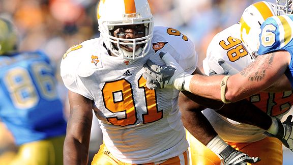 Though Tennessee defensive end Robert Ayers admits the Bucs havent spoken with him recently, it doesnt rule out the Bucs from drafting him.