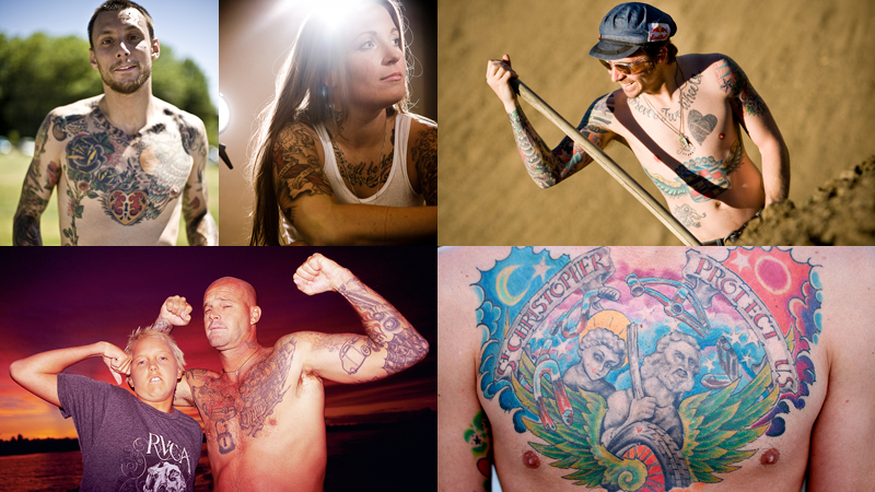 tattoos happen to be some of the world's top action-sports athletes,