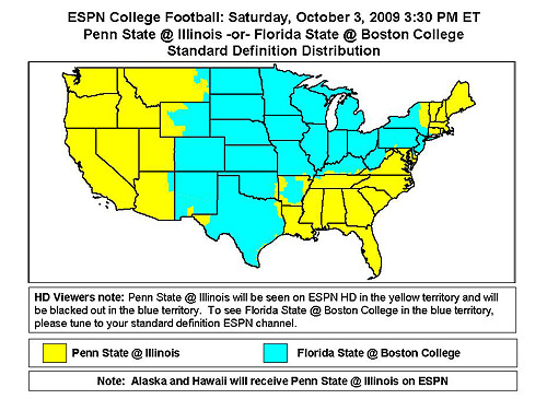 Penn State at Illinois 2:30 p.m. ( ESPN *7 / ABC *1 ) (HD)