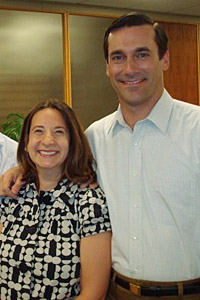 The Current Mrs. Cregan and Jon Hamm