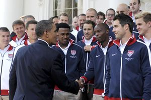 Barack Obama and USA Soccer Team