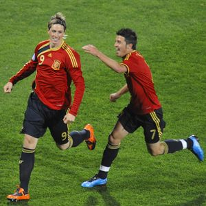 Fernando Torres and David Villa