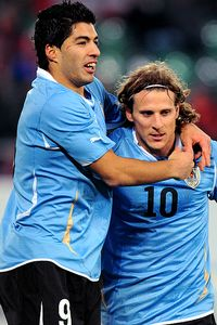Luis Suarez and Diego Forlan