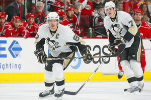 Sidney Crosby and Evgeni Malkin