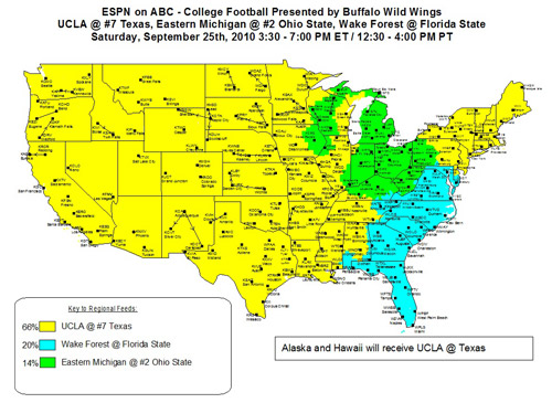 Week 4 College Football Afternoon Thread - California Golden Blogs Dish Network Coverage Map on