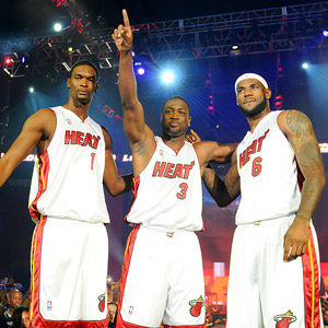 Chris Bosh,Dwayne Wade, LeBron James