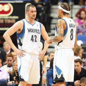 Kevin Love and Michael Beasley