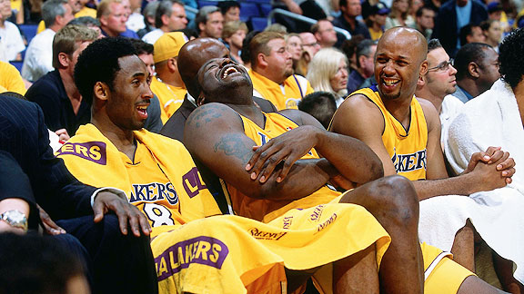 Kobe Bryant, Shaquille O'Neal, Brian Shaw