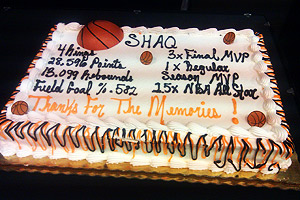 Shaq cake