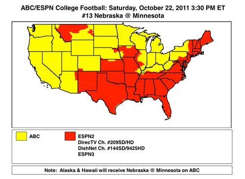 College Football Canadian TV Guide Week A Rouge Point - Maryland map funny