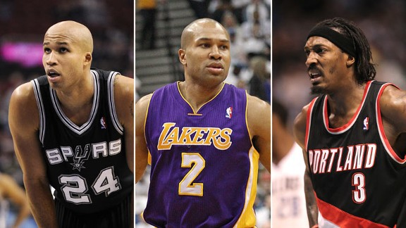 Richard Jefferson, Derek Fisher, and Gerald Wallace