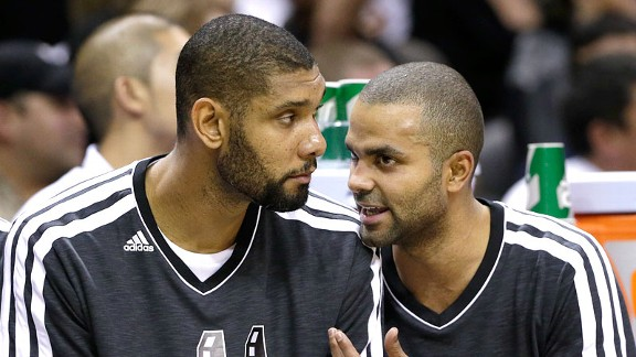Tim Duncan y Tony Parker