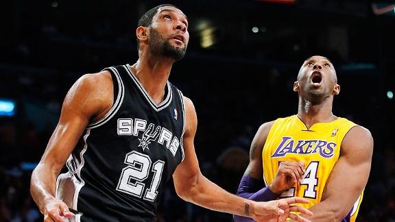 Tim Duncan, Kobe Bryant