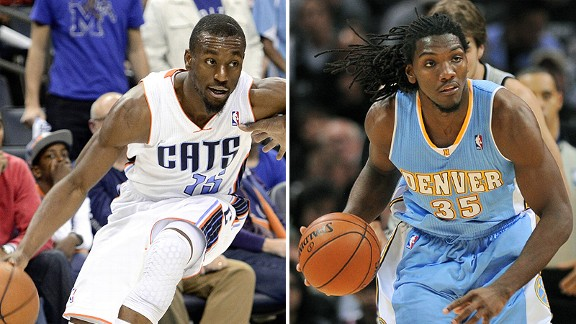 Kemba Walker and Kenneth Faried