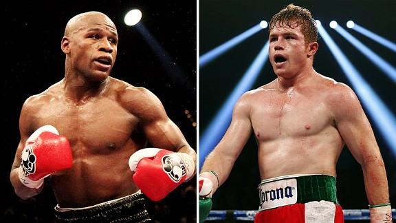 Floyd Mayweather y Canelo Alvarez