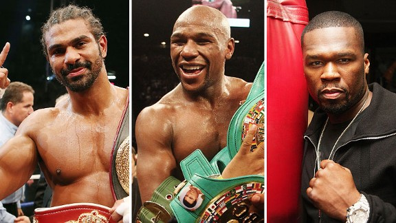 David Haye, Floyd Mayweather y 50 Cent