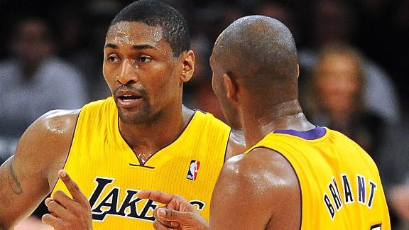 Ron Artest and Kobe Bryant