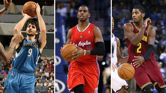 Ricky Rubio, Chris Paul y Kyrie Irving