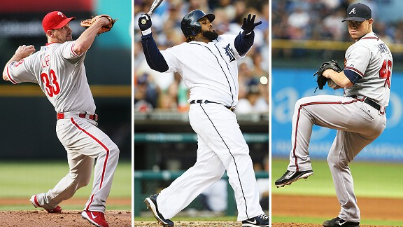 Cliff Lee, Prince Fielder, and Craig Kimbrel