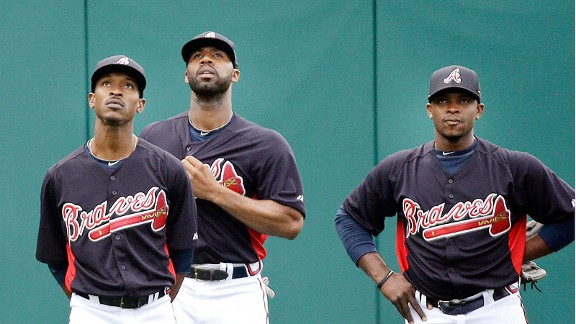 B.J. Upton, Jason Heyward & Justin Upton