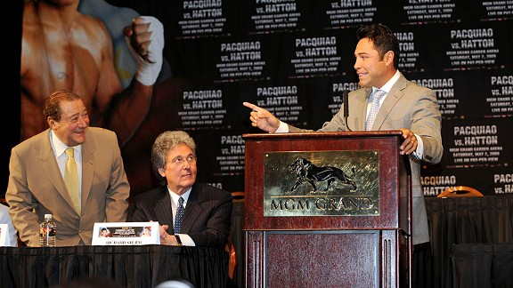 Bob Arum and Oscar De La Hoya