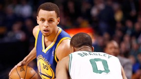 Avery Bradley and Stephen Curry