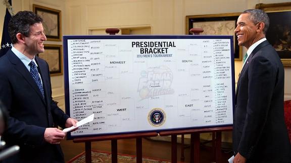 President Barack Obama and Andy Katz