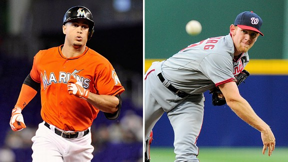 Giancarlo Stanton and Stephen Strasburg