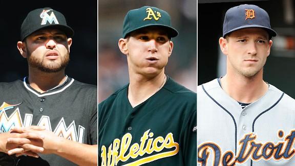 Ricky Nolasco, Jarrod Parker & Drew Smyly