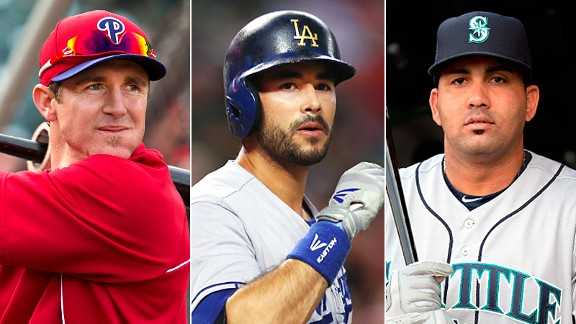 Chase Utley, Andre Ethier & Kendrys Morales