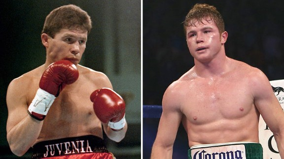 Julio Cesar Chavez Sr. and Canelo Alvarez