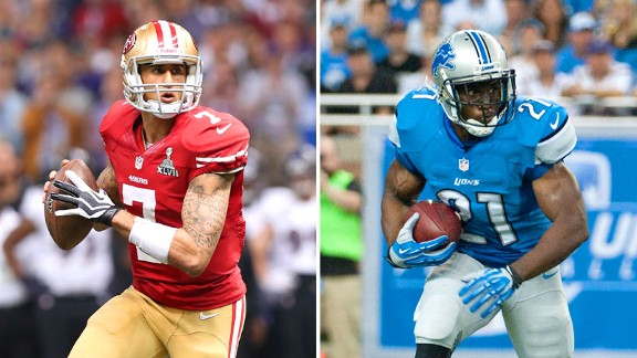 Colin Kaepernick and Reggie Bush