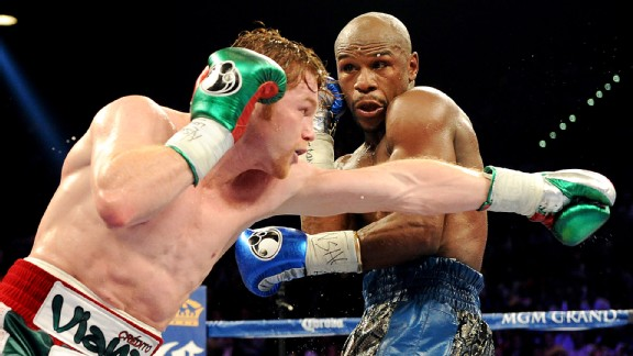 Floyd Mayweahter Jr. and Canelo Alvarez