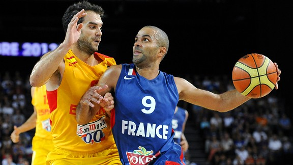 Tony Parker and Jose Manuel Calderon