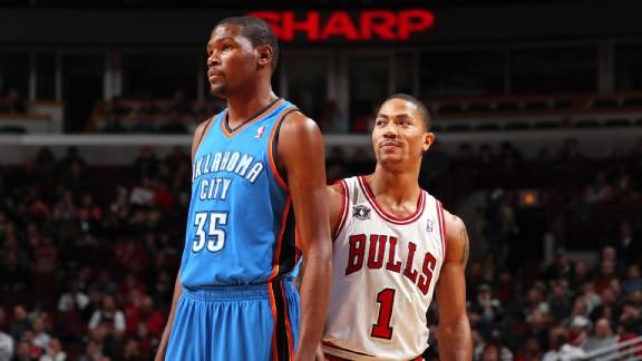 Kevin Durant y Derrick Rose