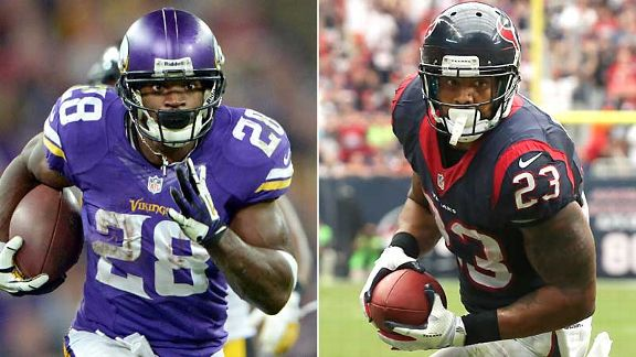 Adrian Peterson and Arian Foster