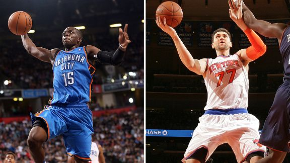 Reggie Jackson and Andrea Bargnani